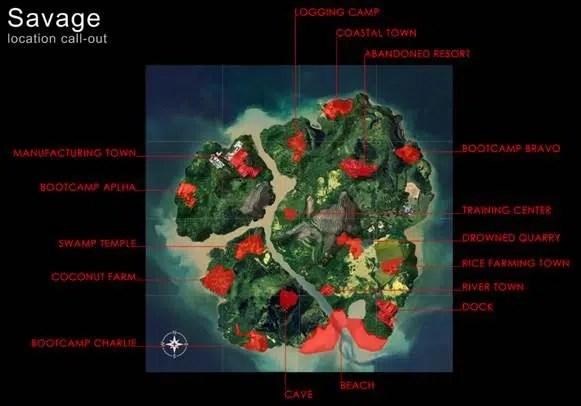 Une image des premiers pas de la conception de Sanhok