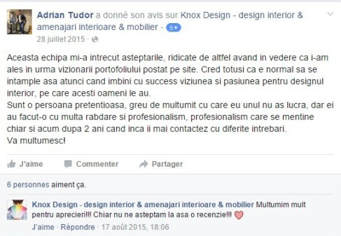 recenzie facebook Knox Design