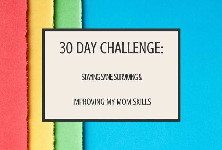 30 Day Challenge Day 1: Staying Sane, Surviving, and Improving my Mom Skills