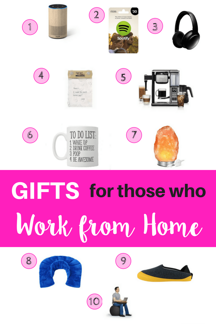 The ultimate gift guide when you are shopping for someone who works from home. Great gifts that they will actually use. #gifts #momlife #WAHM