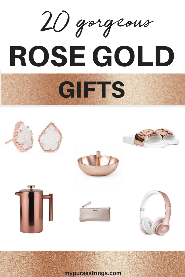 Check out this list of 20 gorgeous gift ideas, all in rose gold. Are you shopping for yourself, Mother's Day, or a birthday? This is the ultimate gift list. Rose gold and copper gold are all the rage with no signs of slowing down.