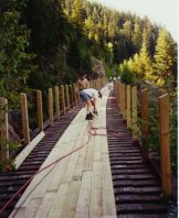 Trestle #13. Decking Trestle #13 on a hot July day in 1994.