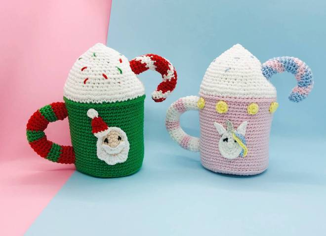 crochet pattern christmas mug
