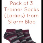 #Giveaway – Pack of 3 Trainer Socks (Ladies) from Storm Bloc