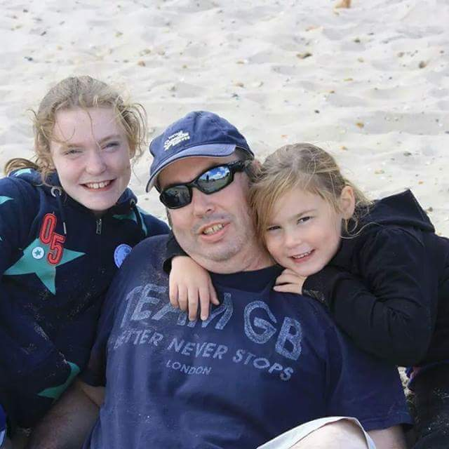 Warren from Mr Dad Diary with his daughters