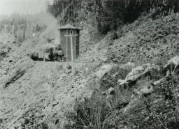 Water Tower. The original water tower, just west of Trestle #8. The footings for the tower can still be seen.