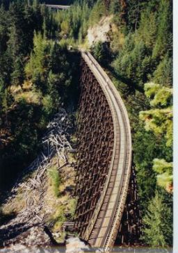 Trestles #4 and #6. An aerial view of Trestle #4, with Trestle #6 in the background.