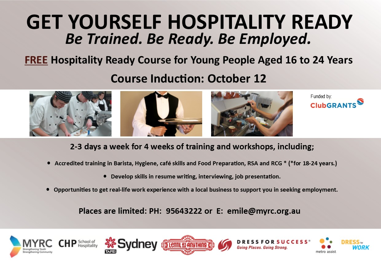 Free Hospitality Training And Work Experience Course For Young People