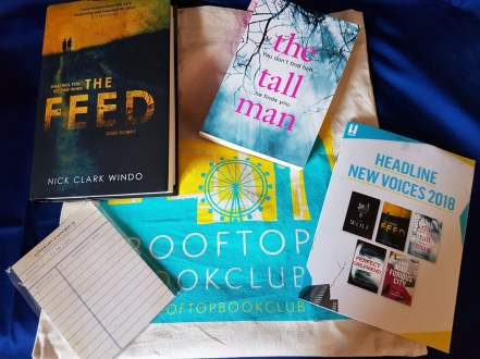 Goody Bag with proof copy of The Tall Man