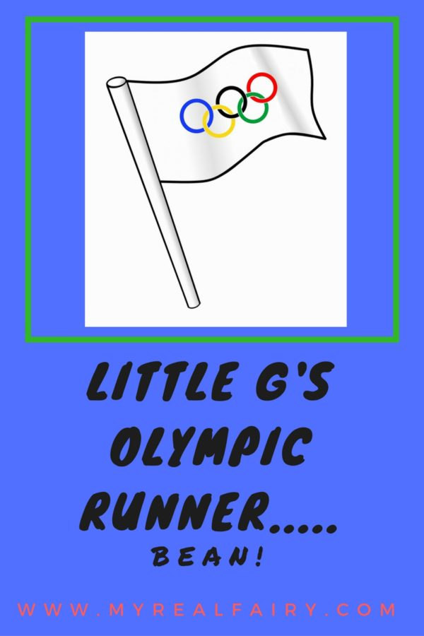 Little G's Olympic runner…..