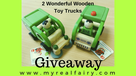 2 Wonderful Wooden Toy Trucks Giveaway