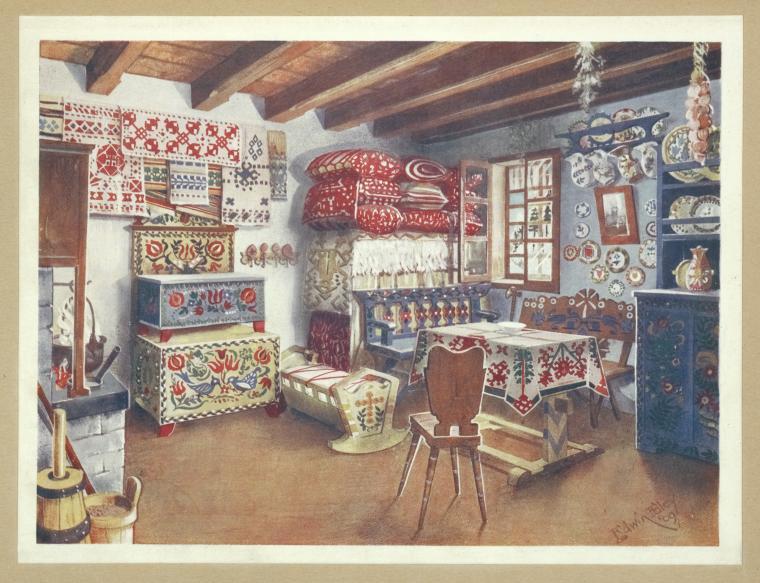 Hungarian folk design