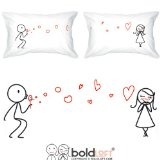 """BOLDLOFT® """"From My Heart to Yours"""" His & Hers Couple Pillowcases-Matching Couple Gifts,Valentines Gifts for Her,Valentines Day Gifts for Girlfriend,Romantic Anniversary Gifts for Her"""