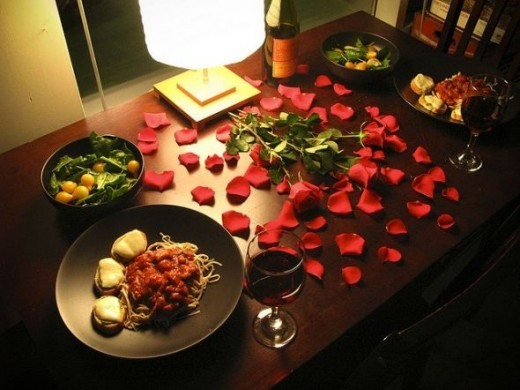 Set the scene... rose petals, some candles, and your favorite, but simple, menu...