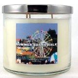 1 X Slatkin & Co. 14.5 Oz. 3-wick Candle Summer Boardwalk