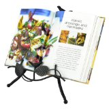 Classical Black Metal Bird Design Easel Style Display Stand Cookbook / Photo Album / Tablet Holder - MyGift