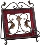Iron Leaf Scroll Kitchen Cookbook Stand