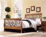 Dunhill Bed in Autumn Brown/Honey Oak by Fashion Bed Group