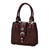 Women's Handbag: Western Elegance Faux Leather Handbag by The Bradford Exchange