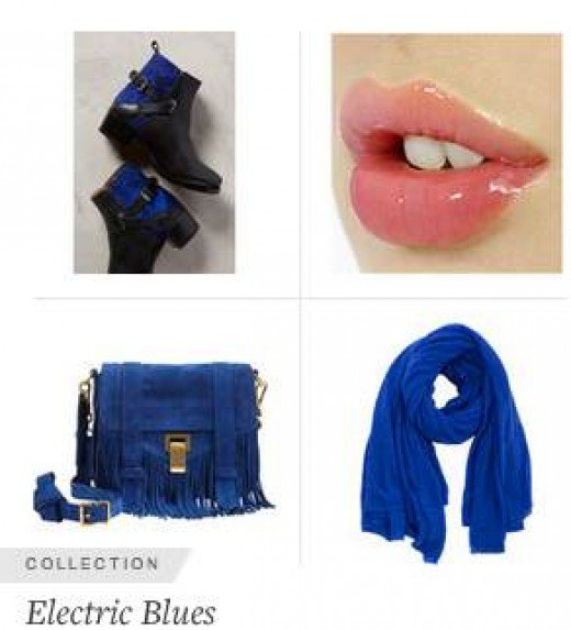 Electric Blue is very flattering for a more mature complexion and especially as a foil for gray hair.