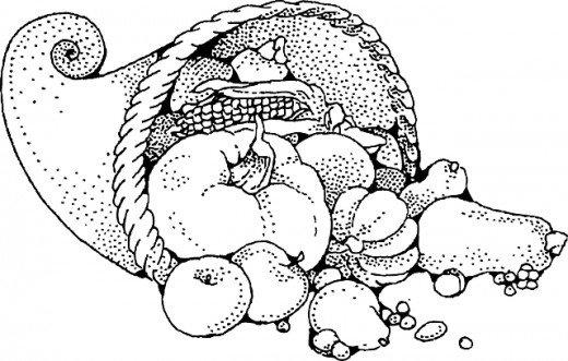cornucopia coloring picture