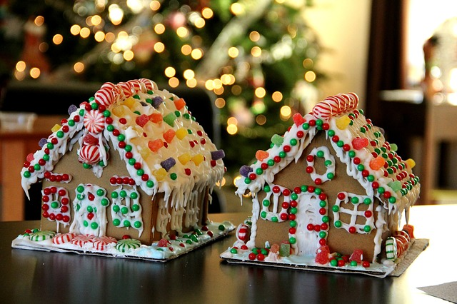 Christmastime gingerbread houses