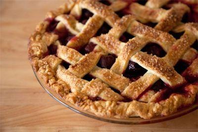 classic latticed pie