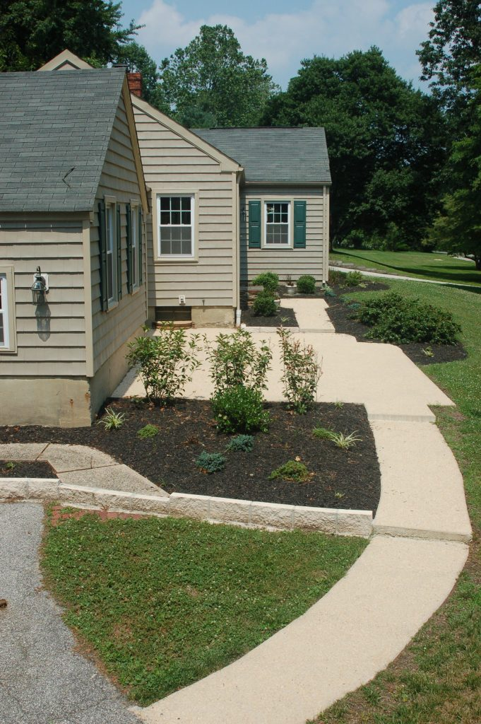 Front Patio in Rent-to-Own Home at 11101 Glen Arm Road, Glen Arm, MD 21057