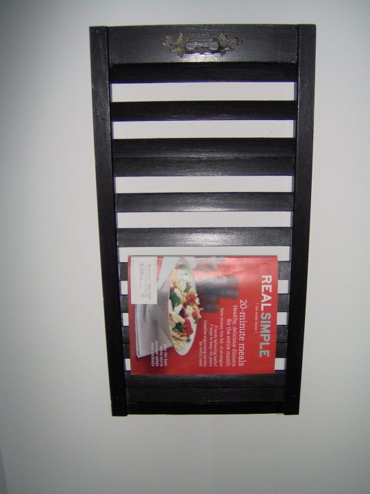 magazine rack from a shutter
