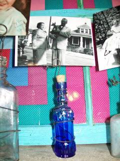 bottle photo holder