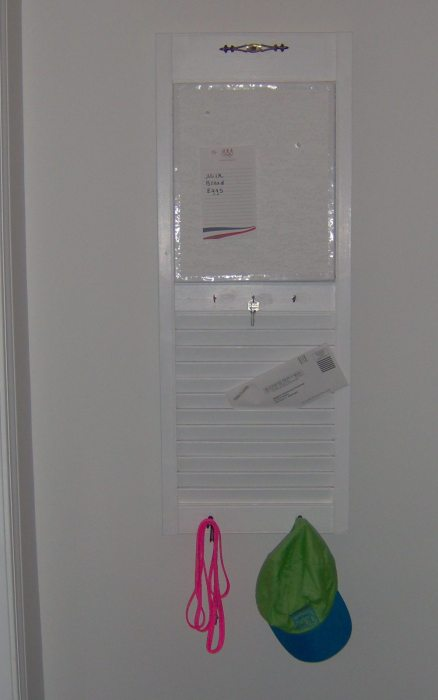 repurposed shutter mail memo