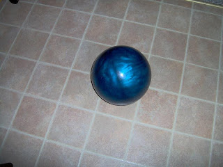 repurposed blue bowling ball