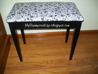 how to redo a piano bench with upholstery