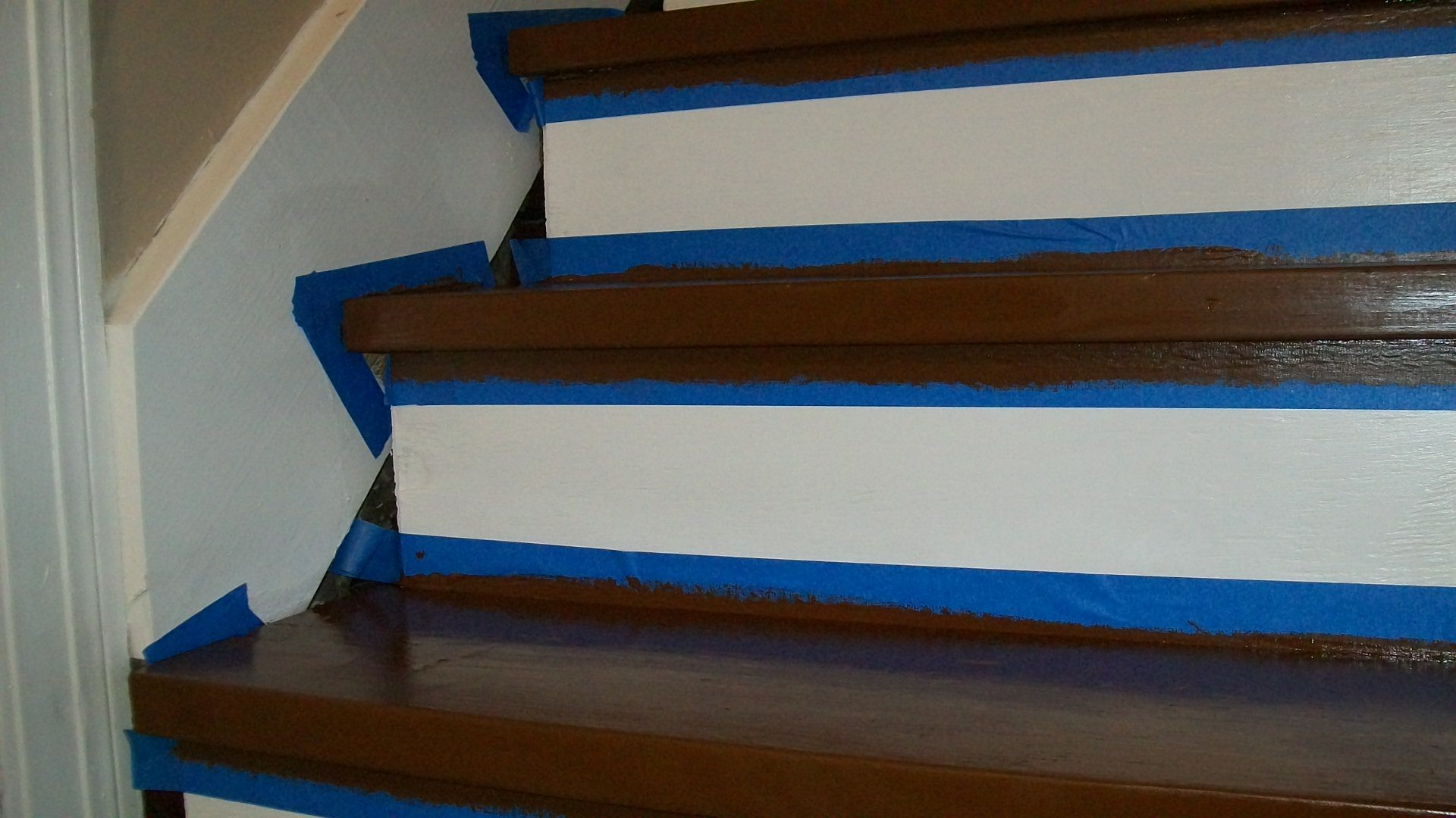 remove carpet paint stairs my repurposed life remove masking tape
