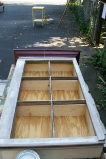 how to build a repurposed window cabinet