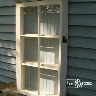 how to make a repurposed window cabinet MyRepurposedLife