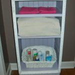 update nightstand with picture frame molding