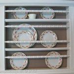 Repurposed Crib into Plate Rack