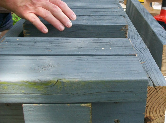 using a nail gun to hold wood in place until you can secure it with screws makes diy easy