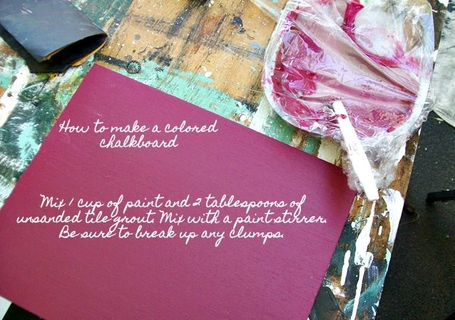 make your own colored chalkboard