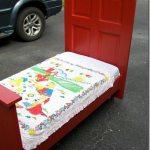 Door Repurposed into a Toddler Bed
