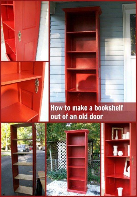 red door bookcase