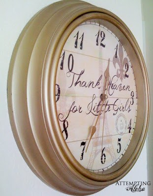 cheap clock redo