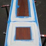 Armoire Door Repurposed Into a Chalkboard
