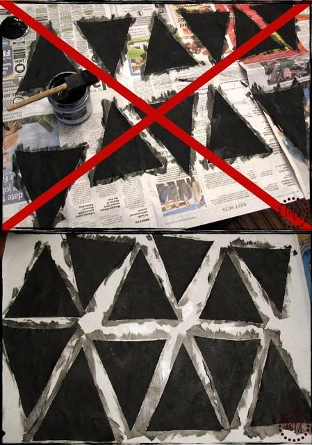 chalkboard paint on fabric