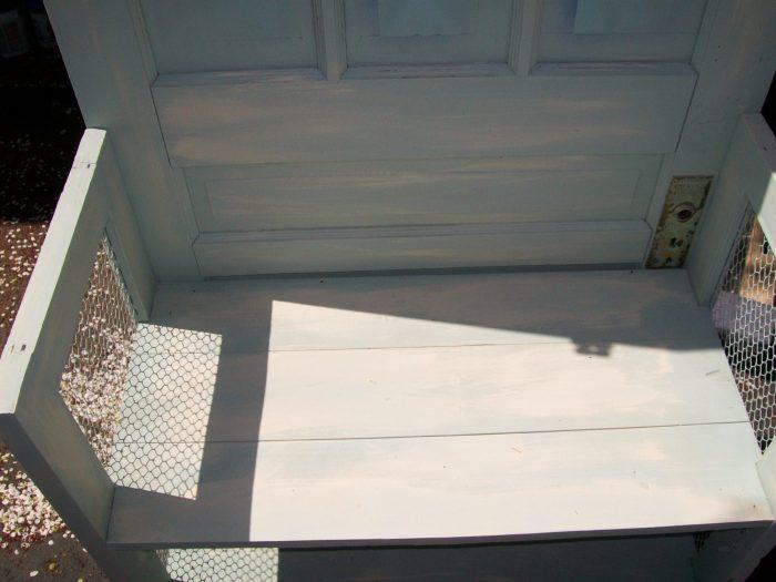 add doorknob or not on upcycled door bookshelf