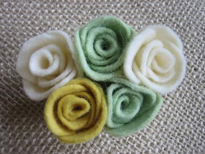 small felt rosettes