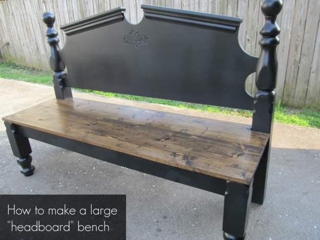 pretty headboard bench