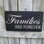 Family Rules Sign and Families Are Forever Sign