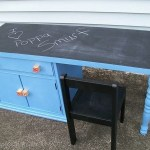 Repurposed Nightstand into Child's Desk